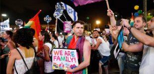 """دهها هزار نفر در اسرائیل در اعتراض به تبعیض علیه همجنسگرایان در حق """"اجاره رحم"""" به خیابان آمدند"""