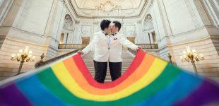 جشن ازدواج همزمان زوجهای همجنس در تایوان