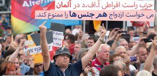 حزب راست افراطی «آ.اف.دی» در آلمان خواستار لغو قانون ازدواج همجنسها شد