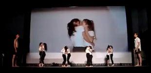 بوسههای جنجالی بر صحنهی تئاتر کریمه