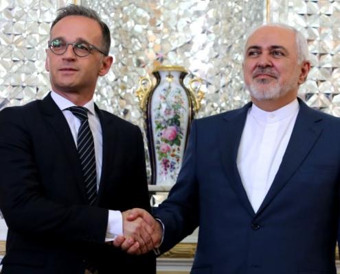 هایکو ماس، وزیر امور خارجه آلمان و محمد جواد ظریف، وزیر امور خارجه ایران